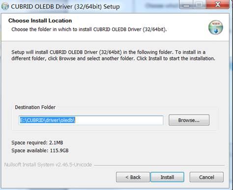 OLE DB Driver — CUBRID 10 0 0 documentation